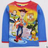 Vente de gros fabricants de la période printanière et automnale de vêtements pour enfants garçons unique d'origine à manches longues T-shirt en coton