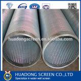 Filtro envuelto alambre del receptor de papel del tubo filtrante/de agua del alambre de la cuña del fabricante del OEM