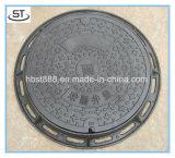 Couverture de trou d'homme ronde de fer malléable du retrait En124 C250 d'OEM