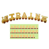 Alfabeto de comboios de brinquedos de madeira (28 PCS) (80095)