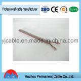 Rojo y cable paralelo del altavoz de la base de Transprent dos