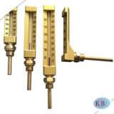 Zeile geformter Thermometer des industrieller Verbrauch-goldene Glas-V