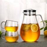 Cuvette de thé en verre fabriquée à la main avec la tasse de café de cuvette de cadeau de déjeuner de traitement