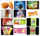 El introducir de las galletas de la torta y línea de embalaje automáticos equipo comercial del acondicionamiento de los alimentos