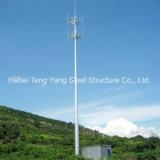 Изготовленной гальванизированная сталью башня телекоммуникаций антенны Monopole