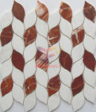 Blatt mögen Wasserstrahlausschnitt-Stein-Mosaik-Fliese (CFS1147)