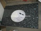 Parte superiore blu di vanità della stanza da bagno del granito della perla con il dispersore
