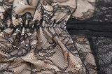 半分の透過長い袖のレースの夕方の包帯の服