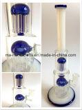 14 Zoll-doppelter Arm-Baum-Filtrierapparat-Glaspfeife-/Wasser-Rohr-rauchende Fertigkeiten