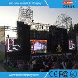 Visualización de LED al aire libre del alquiler del fondo P3.91 del concierto