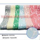 O fio da tela do jacquard tingiu a tela do poliéster da fibra química para a matéria têxtil da HOME do vestido da mulher