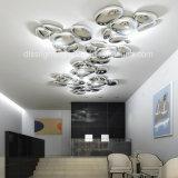 Современная роскошь Металлический светодиодный капель мощеной форму потолочный светильник для украшения