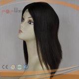 Верхнего сегмента волос девственницы Remy волны парик кожи людского Silk верхний