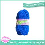 Immaginazione blu del cotone delle lane acriliche del poliestere che lavora a mano filato
