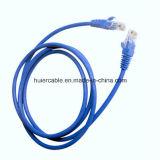 Câble testé par flet du câble LAN UTP Cat5e avec la jupe duelle (PVC+PE)