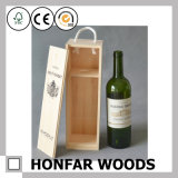 Personaliza o logotipo de madeira Wine Packing Storage Box for Decor