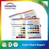 Carte de couleur de peinture de mur de matériau de construction de la taille A4