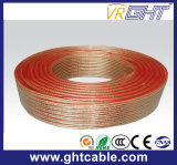 Cable de altavoz flexible transparente (2X1.0mmsq CCA Conductor)
