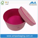Изготовленный на заказ водоустойчивая коробка бумажного цветка с упаковывать пробки коробки крышки круглый