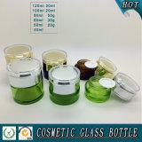 Dunkles braunfarbiges kosmetisches Flaschen-und Kosmetik-Glasglasglas mit Acrylkappe