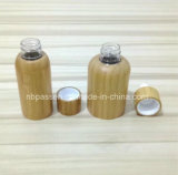 Frasco cosmético do animal de estimação plástico novo da chegada com tampão de bambu (PPC-BS-002)