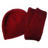 Belle couleur Lady tricoté Hat et un foulard (JRK213)