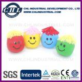 Venda por grosso de 3cm de rosto personalizada esticar bola com cor de múltiplos