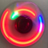 Hilandero al por mayor de la persona agitada de los juguetes de la mano del dedo con las luces del LED