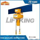 Élévateur à chaînes électrique à deux vitesses de Liftking 0.5t avec le chariot électrique