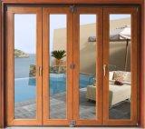 Porte et fenêtre en bois plaqué en aluminium (porte et fenêtre en aluminium composite)