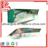 Refuerzo lateral de tejido de la ventana de plástico de embalaje bolsa de papel de aluminio