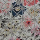 Cuero floral del Faux de la manera para la cubierta elegante de la caja del teléfono celular (HW-267)