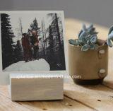 Titular de la madera de logotipo personalizado para la tarjeta del menú de impresión fotográfica