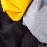 Tessuto durevole delle lane di 100% per l'inverno nel colore giallo