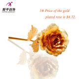 형식 어머니날 동안 24k 금 색깔 선물에 있는 황금 로즈 꽃