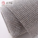 Haute qualité Hot Fix 3mm Aluminium Crystal Rhinestone Mesh