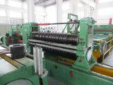 Hoja de metal industrial que raja y línea máquina el rebobinar
