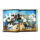 一義的なデザインハードカバーの写真の本の印刷
