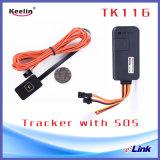 C.C. del voltaje de funcionamiento del perseguidor del GPS del alambre 12/24/36 V (tk116)