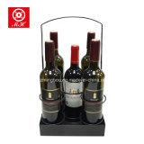 Het draagbare Opschorten van de Wijn van het Metaal van 5 Fles voor Huis