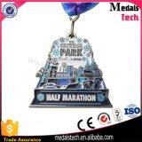 Medalla magnética del abrelatas de botella del recuerdo del deporte del metal para la corrida de Sparta