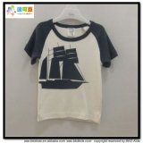 Stripe Printing Baby Wear V-Neck Baby Boy T-Shirt