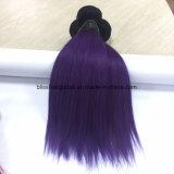 Brasilianische Remy Haar Ombre Farbe 10inch Ot1b-Purple gerade
