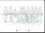 Desenho de esboço de origem para o desenvolvimento de manequins