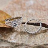 Noble compromiso Anillo de Plata conjunto Jewellry