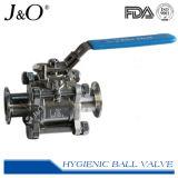 Fabricante sanitário Válvula de esfera de aço inoxidável de vedação encapsulada de alta pureza
