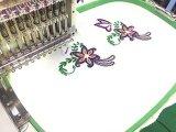 Singole teste 12/15 di disegno del ricamo di macchina di colori