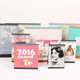 2017 Papier Art Customzied Design professionnel Calendrier de Bureau de l'impression