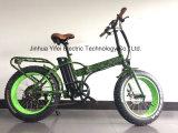 楽しみのためのリチウム電池が付いている脂肪質の電気バイクを折る20インチ