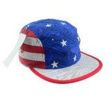 Sombrero supremo de la manera de los cinco paneles del sombrero de Ployester del casquillo de encargo del campista